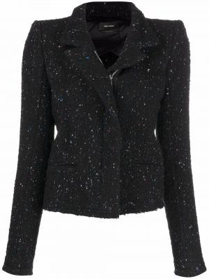 Черная куртка на молнии Isabel Marant