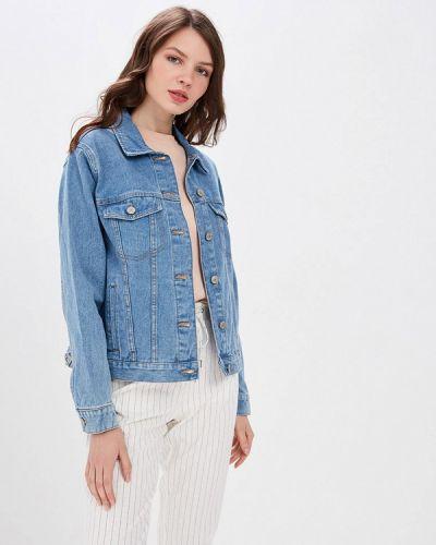 Джинсовая куртка весенняя синий Ostin