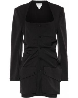 Удлиненный пиджак из габардина Bottega Veneta