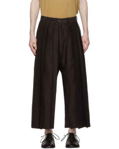 Czarne spodnie bawełniane z paskiem Jan-jan Van Essche