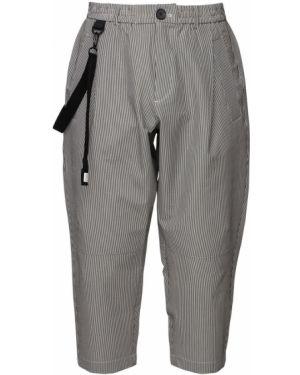 Czarne spodnie w paski Iise