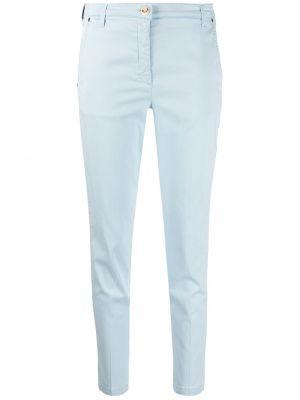 Хлопковые синие брюки с карманами Jacob Cohen