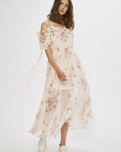 Платье макси шелковое прямое Miss Sixty