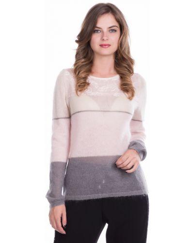 Пуловер с кокеткой из мохера Just Valeri