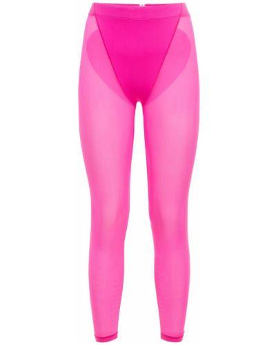 Розовые леггинсы на резинке Adam Selman Sport