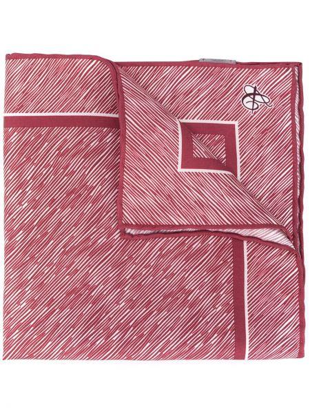 Прямой красный шелковый платок квадратный Canali