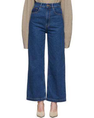 Широкие джинсы стрейч mom Nanushka