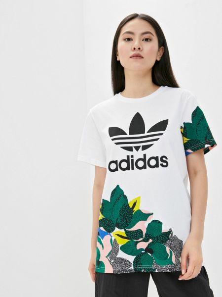 Поло белое футбольный Adidas Originals