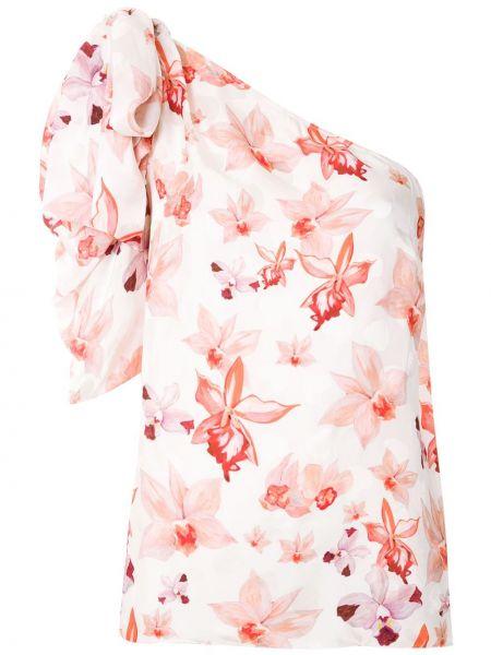 С рукавами шелковая белая блузка Isolda