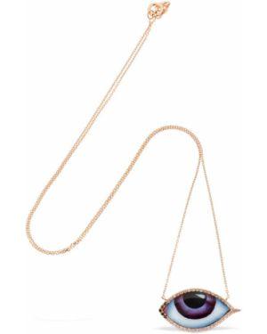 Czarny złoty naszyjnik z diamentem Lito