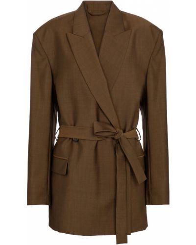 Шерстяной коричневый пиджак Acne Studios