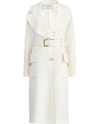 Пальто бархатное с воротником Valentino