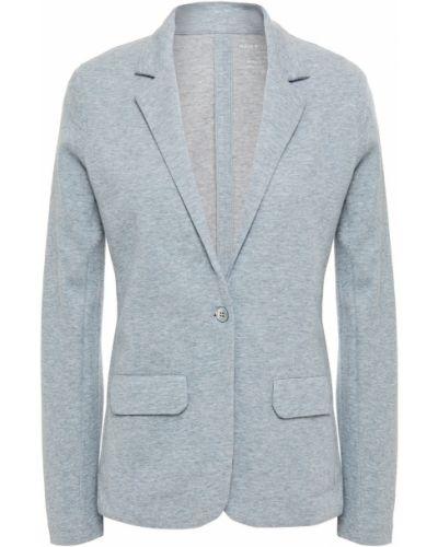 Трикотажный синий пиджак с карманами Majestic Filatures