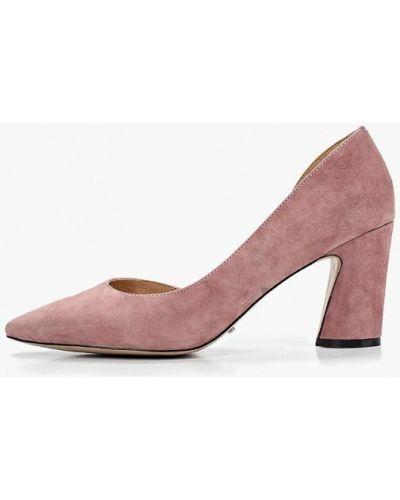 Туфли на каблуке замшевые розовый Vitacci