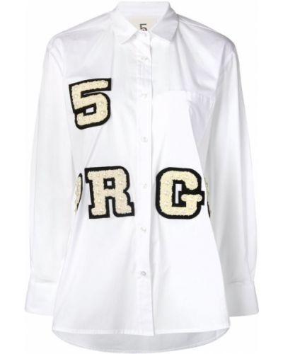Свободная классическая рубашка с вышивкой на пуговицах с карманами 5 Progress