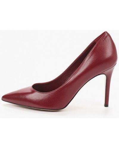 Кожаные красные туфли-лодочки Pazolini