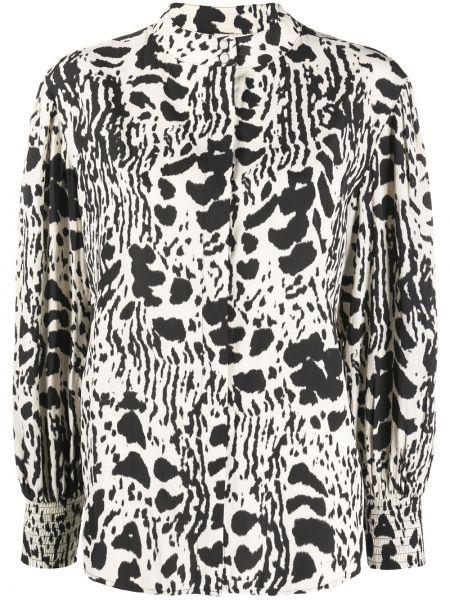 Черная блузка с потайной застежкой Ba&sh