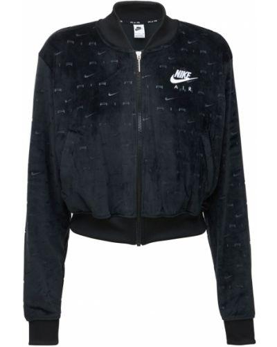 Бархатная куртка - черная Nike