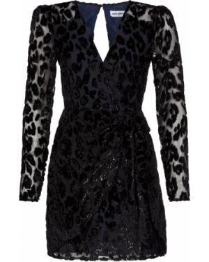 Платье из вискозы - черное Self-portrait