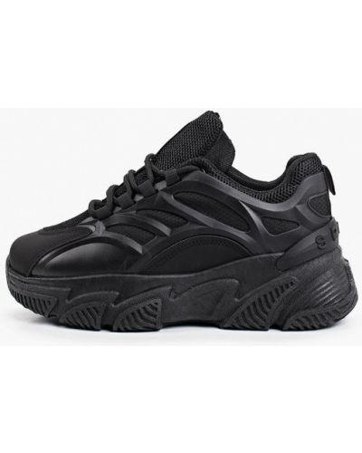 Текстильные черные кроссовки Go-go