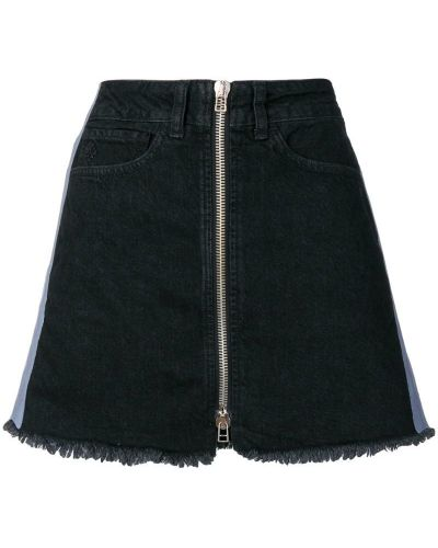 Юбка мини джинсовая с вышивкой Marcelo Burlon. County Of Milan