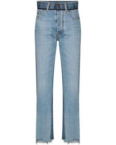С завышенной талией хлопковые синие джинсы с высокой посадкой с карманами Maison Margiela