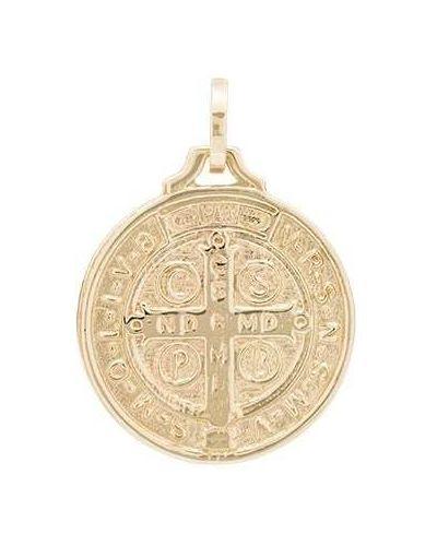 Желтый медальон с декоративной отделкой Dru