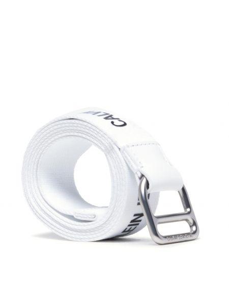 Biały pasek z paskiem Calvin Klein Jeans