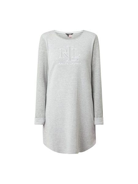Z paskiem bawełna koszula nocna na paskach z dekoltem Lauren Ralph Lauren