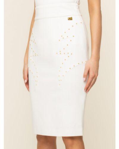 Biała spódnica ołówkowa Cavalli Class