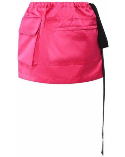 Юбка мини шелковая розовая No. 21