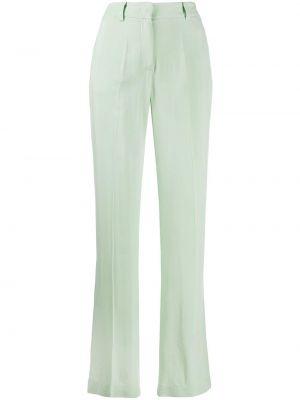 Брючные брюки с воротником с поясом мятные Hebe Studio