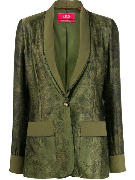 Оливковый удлиненный пиджак с карманами F.r.s For Restless Sleepers