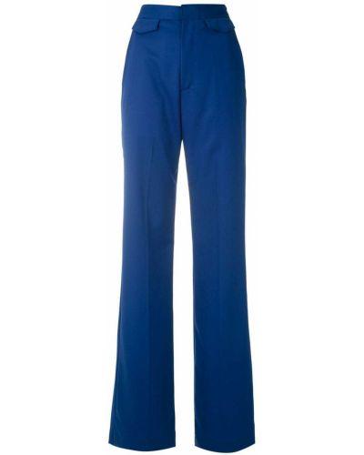 Свободные синие брюки свободного кроя Reinaldo Lourenço
