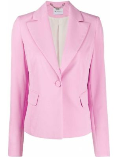 Однобортный розовый приталенный удлиненный пиджак Blumarine