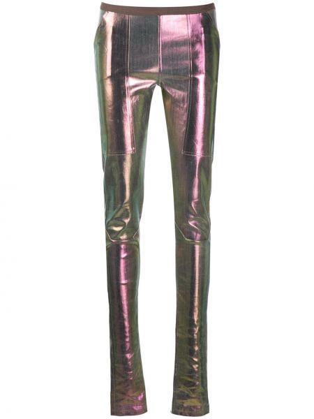 Różowe legginsy z wysokim stanem bawełniane Rick Owens