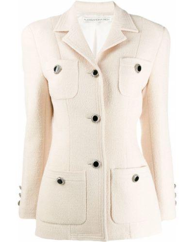 Прямая желтая длинная куртка Alessandra Rich