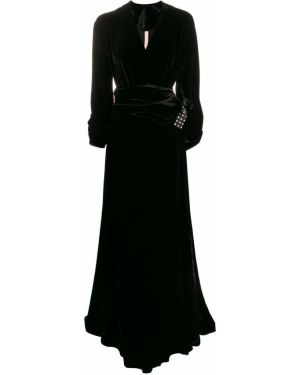 Вечернее платье длинное - черное Maria Lucia Hohan