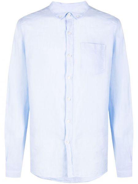 Синяя классическая рубашка с воротником на пуговицах Ecoalf