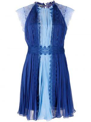Шелковое платье мини - черное Alberta Ferretti
