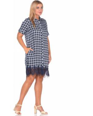 Платье миди на пуговицах с воротником с карманами с кокеткой Dream World