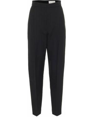 Черные брюки из штапеля Alexander Mcqueen