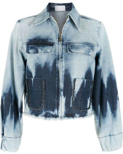 Синяя джинсовая куртка классическая Andrea Bogosian