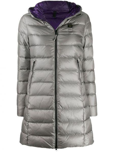 Сатиновая прямая стеганая куртка мятная двусторонняя Blauer