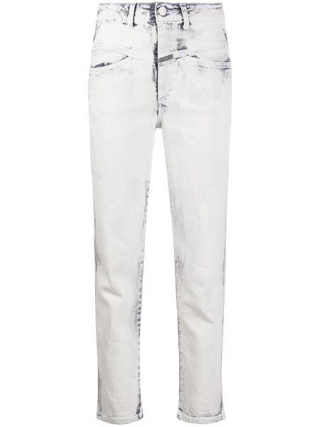 Прямые серые джинсы на молнии Closed