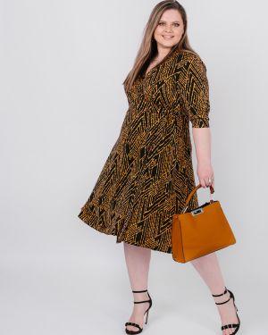Платье с поясом с запахом с V-образным вырезом Jetty-plus