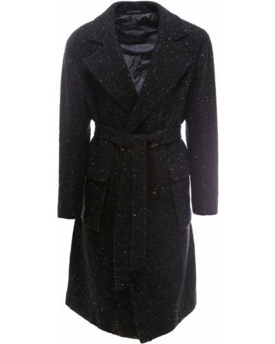 Czarny płaszcz Kiton