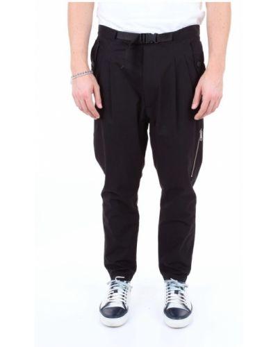 Czarne spodnie bawełniane Messagerie