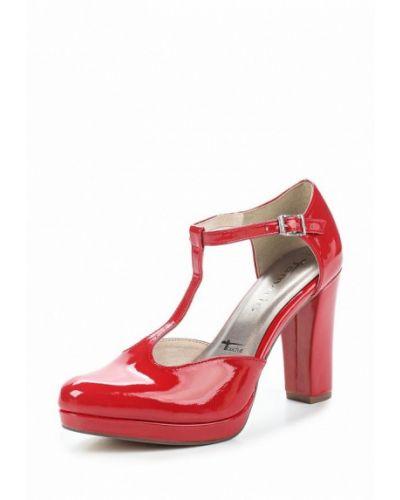 Кожаные туфли с застежкой на лодыжке на каблуке Tamaris