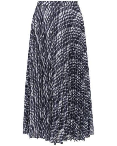 Синяя юбка с подкладкой St. John